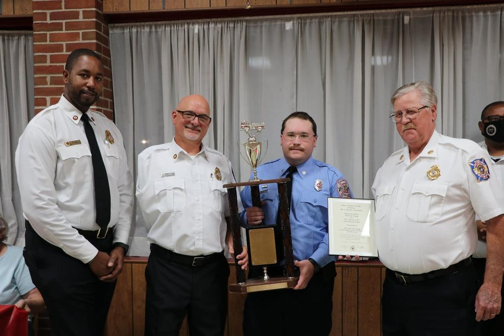 FF/EMT Perry accepted Todd Reedy's award on his behalf.